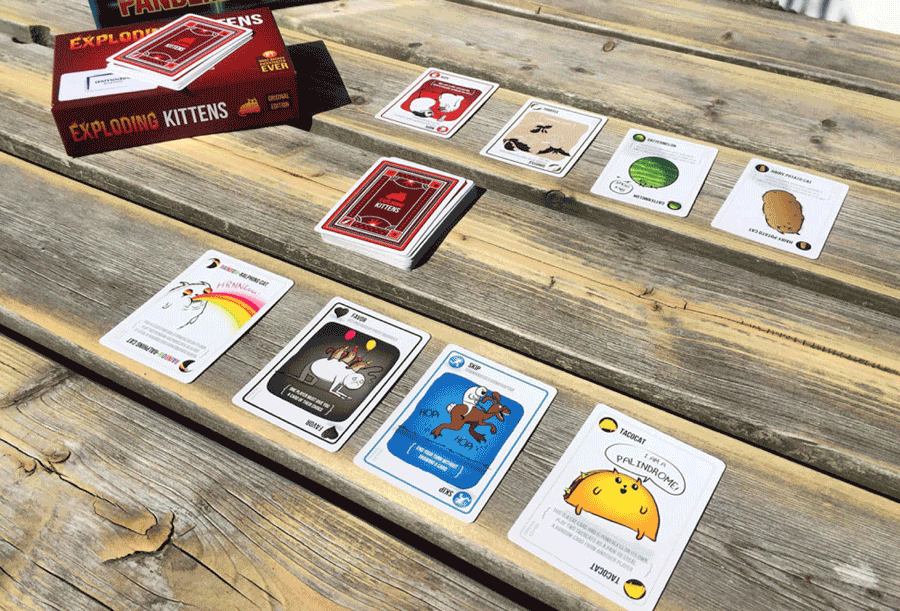 the card game Exploding Kittens