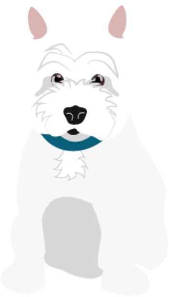 illustration of lulu the dog